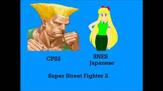 Street Fighter 2 - Guile's Theme Mashup CPS2 VS SNES JPN (First Video of 2018)