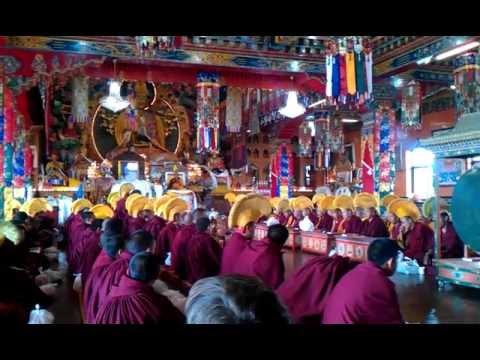 Guru Puja with Lama Zopa Rinpoche, Kopan Monastery, Losar 22 februari 2012