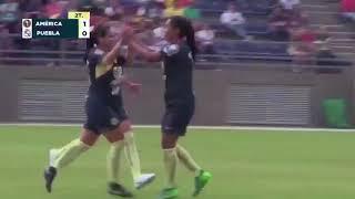 América vs Club Puebla 2-0, J-4, Apertura 2018, Liga MX Femenil, goles