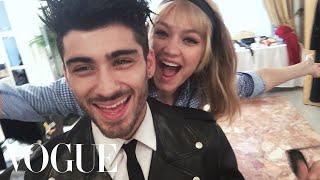Inside Zayn Malik and Gigi Hadid's First Photo Shoot as a Couple   Vogue width=