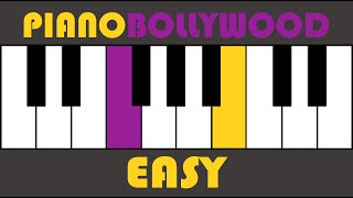 Tera Mujhse Hai Pehle Ka - Easy PIANO TUTORIAL - Verse [Both Hands Slow]