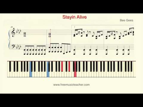 Comment jouer Stayin Alive des Bee Gees au piano