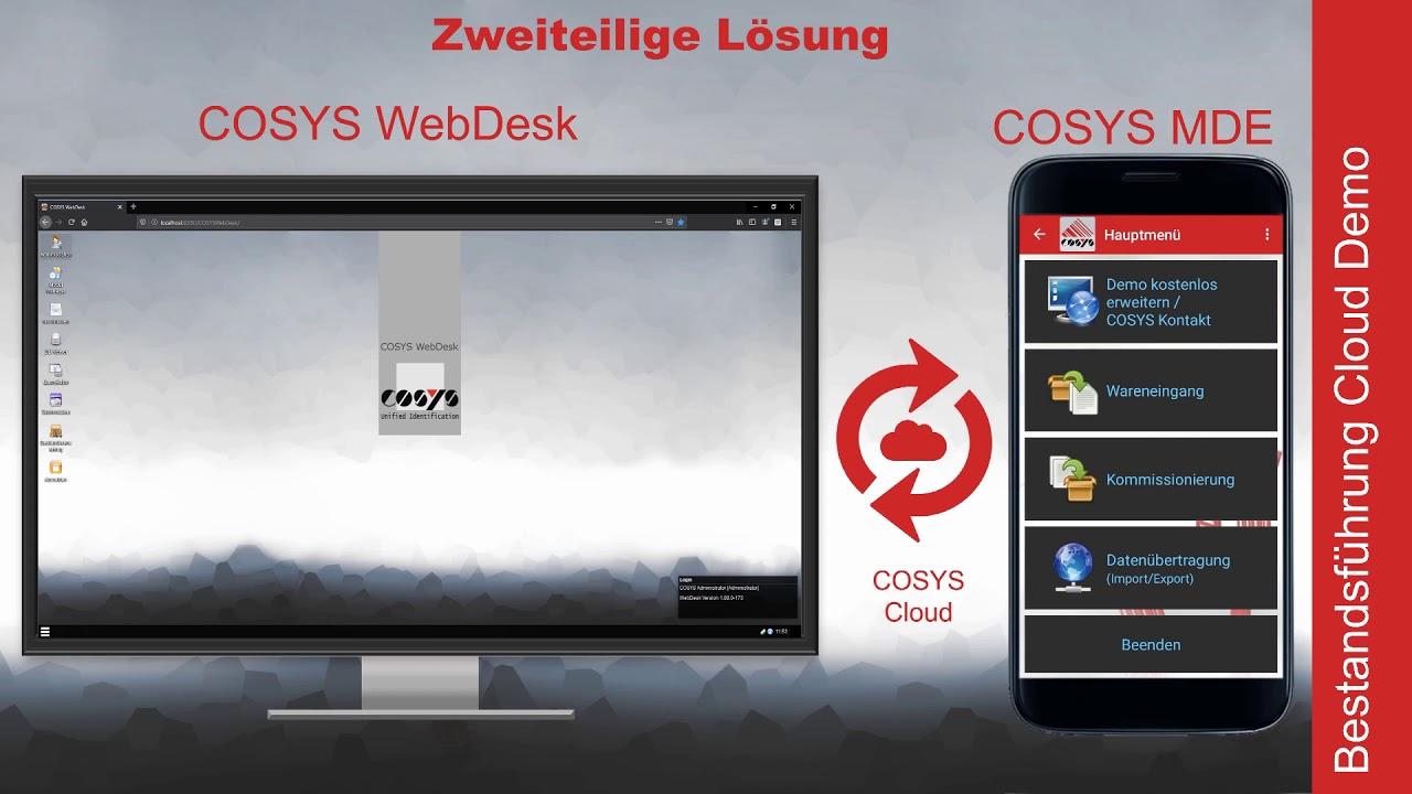 Bestandsverwaltung im COSYS WebDesk   COSYS Bestandsführung Demo