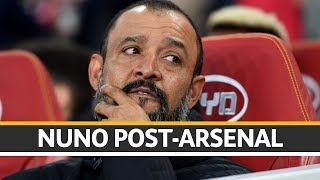 Nuno reacts to Wolves' point at the Emirates