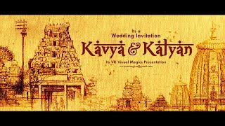 Best | Cinematic | Hindu | Traditional | wedding invitation video | Save The Date Video | VR 33