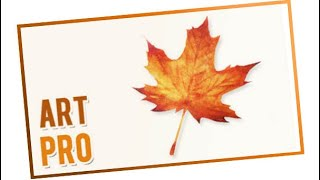 How to draw a tree leaf in Autumn with watercolors