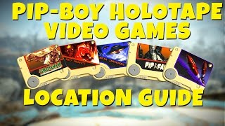 Fallout 4 - All Pip-Boy Video Games Holotapes Location GUIDE (Pipfall, Zeta Invaders & More)