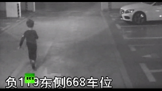 CCTV: 6yo Chinese boy struggles to steal car, fails, runs back to mommy