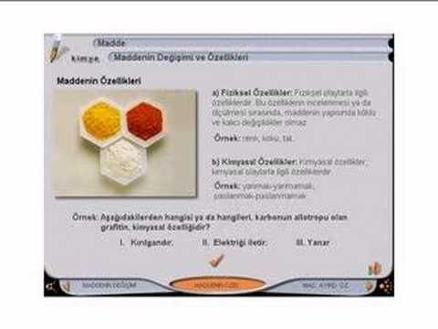 kimya ders1 madde ve maddenin özellikleri