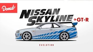 Evolution of the Nissan Skyline [ + GT-R ] | Donut Media