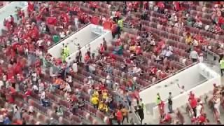 Le public marocain met de l'ambiance au stade de Moscou