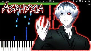 ASPHYXIA! Tokyo Ghoul/Re – Opening Theme - CöshuNie (Piano Tutorial) [Synthesia]