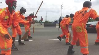 SKATERS STORM OSBORNE, LAGOS FOR #STEM2017 #SKATEANDCLEAN