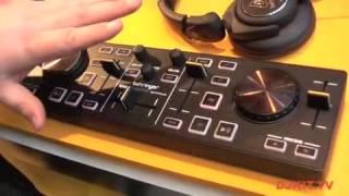 Behringer DJ Controller CMD MICRO Compact 2-Deck DJ MIDI Controller @ Musikmesse 2012 with DJkit.tv width=