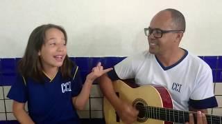 Tio Jacaré...com aluna ( Lara... ) cantando (Ligada na tomada).