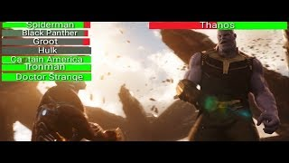 AVENGERS INFINITY WAR - Death Wave...with healthbars | Avengers vs Thanos (HD)