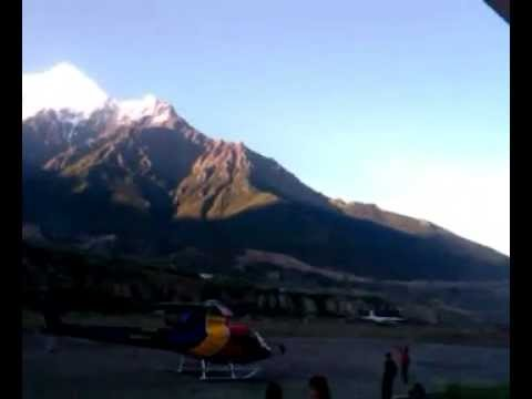 Take off from Jomsom Airport. Mustang. Nepal 2011