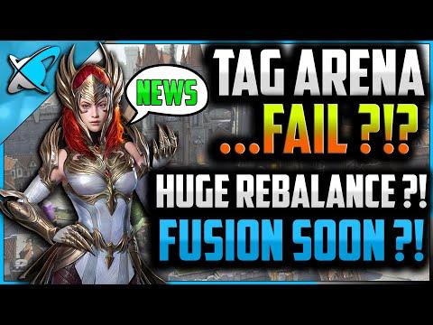 "Tag Arena ""FAIL"" !?.. ""HUGE"" Rebalance !?...New Fusion ""SOON"" !?... & HACKS ! | RAID: Shadow Legends"