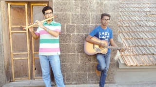 Lag jaa gale - flute and guitar(Hrishikesh) instrumental