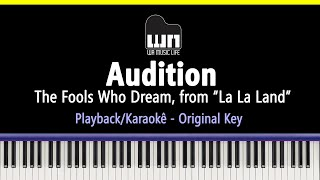 Audition (The Fools Who Dream) - La La Land - Piano Playback for Cover / Karaoke