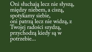 Bednarek - Cisza (Tekst)