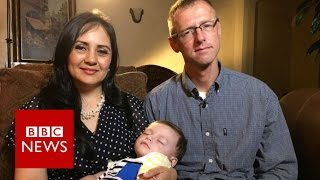 Baby accidentally given to wrong couple reunited with real parents - BBC News width=