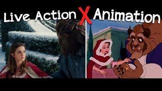 A Bela e a Fera - Comparação do Filme 2017 VS Animação 1991