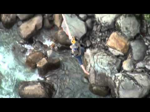 First bungy jump Nepal