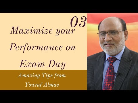 Maximize your Performance on Exam Day by Yousuf Almas Urdu