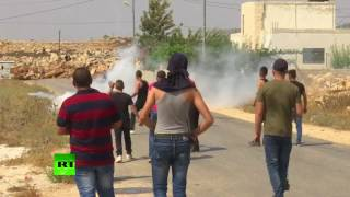 Israeli troops clash with Palestinian protesters after deadly stabbing of mother & 2 children