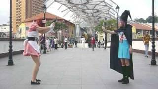 Suzumiya Haruhi Ep 01 Live cosplay : Mikuru Vs Yuki!!