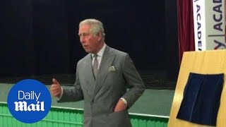 Prince Charles watches Elvis Presley impersonator at school - Daily Mail