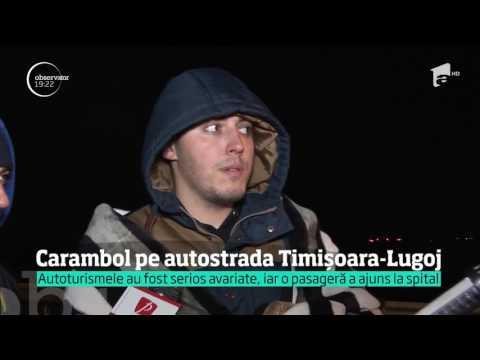 Carambol pe autostrada Timișoara - Lugoj
