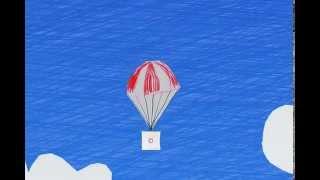 Ballonflug-Zeichentrickfilm