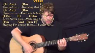 Here, There, and Everywhere (Beatles) Strum Guitar Cover Lesson with Chords/Lyrics