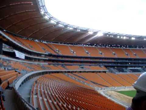 Entering Soccer City Stadium