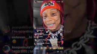 "Trippie Redd on ig live with his new single ""TOPANGA"""