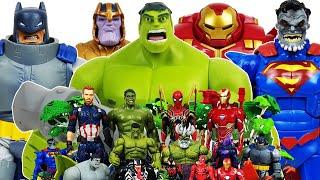 Hulk, Hulkbuster vs Thanos! Avengers Go~! Superman & Batman, Iron Man, Captain America, Spider-Man