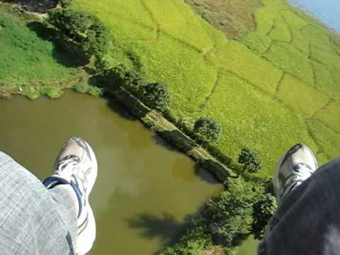 Paragliding landing in Pokhara Nepal