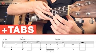 Fingerstyle Guitar Example: Fingerpicking + Percussive Playing + Tapping