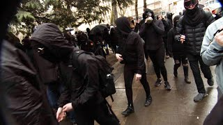 Portland Antifa Hurl Projectiles at Police
