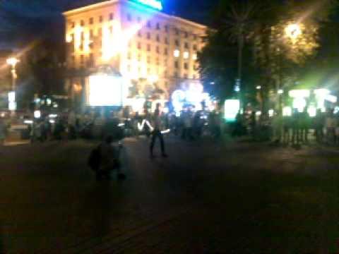 Khreshchatyk Street Fire Dancers