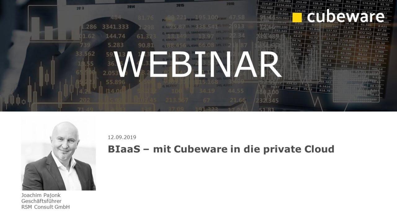 BIaaS - mit Cubeware in die private Cloud