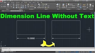 AutoCAD Dimension Line Without Text
