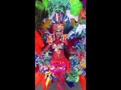 Carnaval Nicaragua 2012 traje de fantasía
