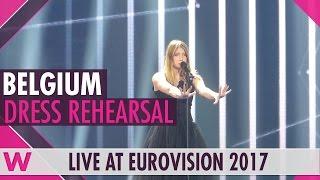 "Belgium: Blanche ""City Lights"" grand final dress rehearsal @ Eurovision 2017"