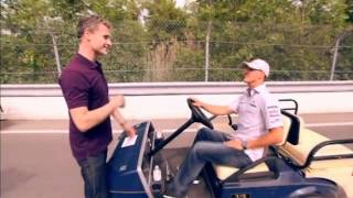 Michael schumacher gives david coulthard a ride at canada gp
