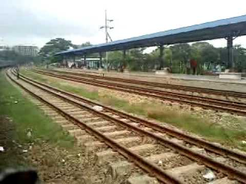Bangladesh Railway Airport Rail station running place video.MP4