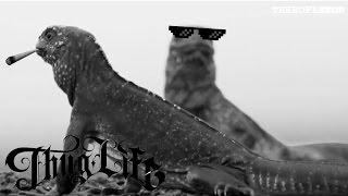 Iguana Thug Life