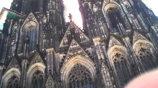 Street Music   Cologne Germany Cathedral Bells on Sunday Mor